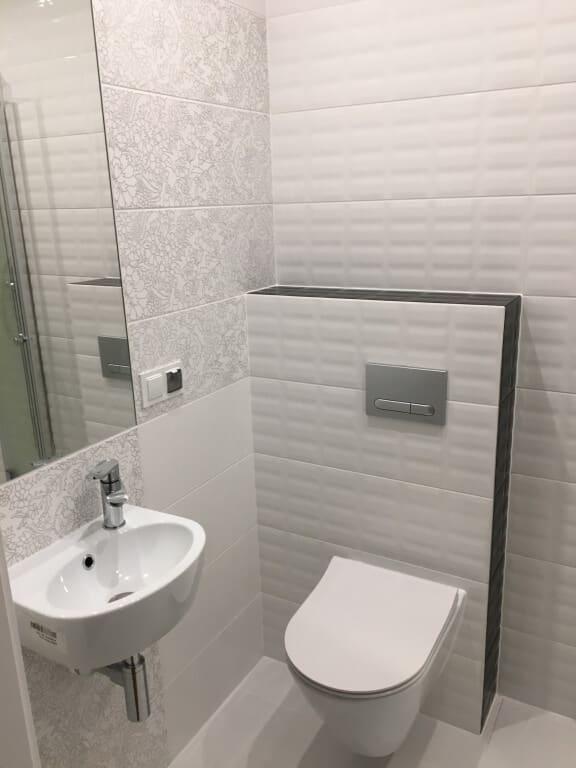 biała łazienka nowoczesna