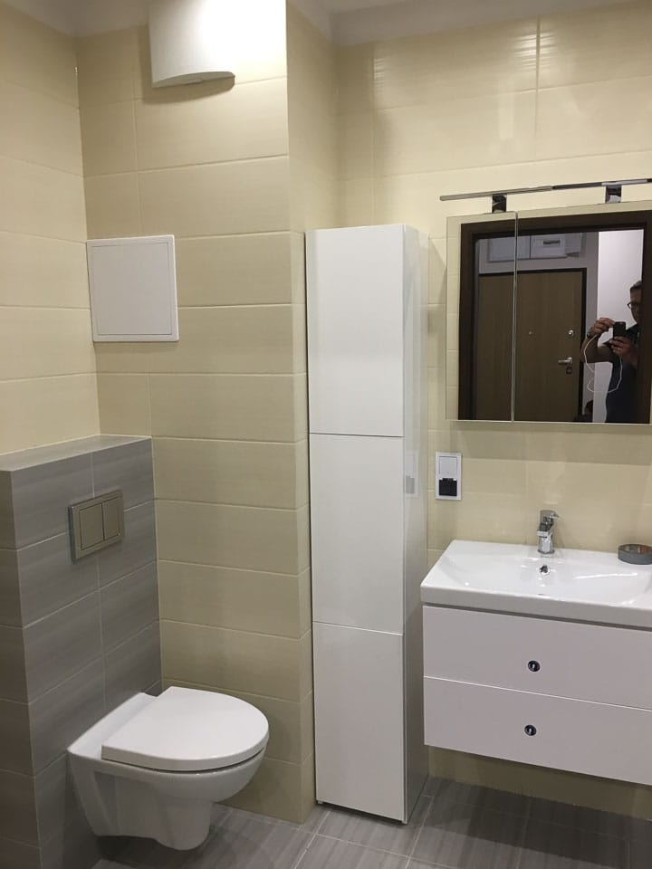 kremowa łazienka