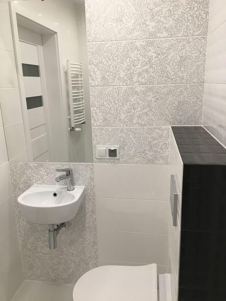 mała łazienka szara