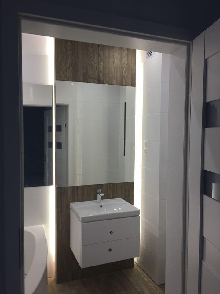 podświetlenie w łazience